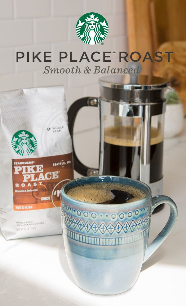 A smooth blend of Latin American beans with subtly rich flavors of cocoa and toasted nuts, Pike Place is sure to be an at-home favorite. Created by master blenders and roasters, it's perfect for people who want a perfectly balanced cup to enjoy throughout the day.