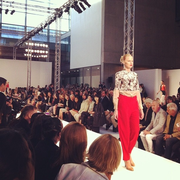 The very first look down the catwalk for Paul Smith's SS13 collection. #paulsmith #lfw