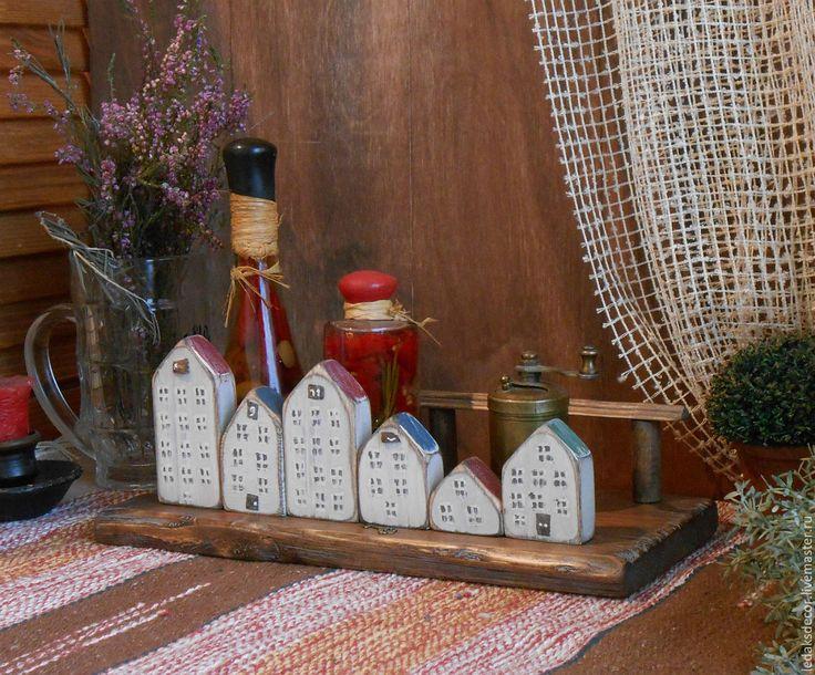 """Купить Подставка для специй """"Городок"""" - комбинированный, стиль загородного дома, уютные штучки, подставка для кухни"""