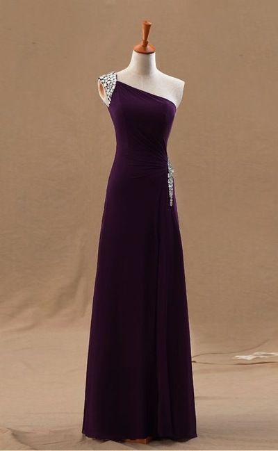 Charming Prom Dress,One Shoulder Prom Dresses,Long Evening Formal
