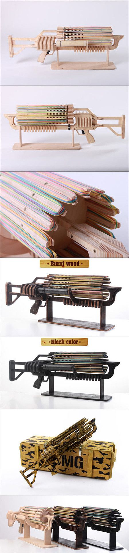 If you thought being flicked by a rubber band hurt, imagine being shot at by the Rubber Band Rambo Gatling gun that pings out 672 elastic stingers in just 48 seconds - that's 14 shots per second fired up to 26 feet.  Ukranian student and inventor Alexander Shpetniy created the gun with a $5,000 Kickstarter goal. He's now about to hit $100,000.