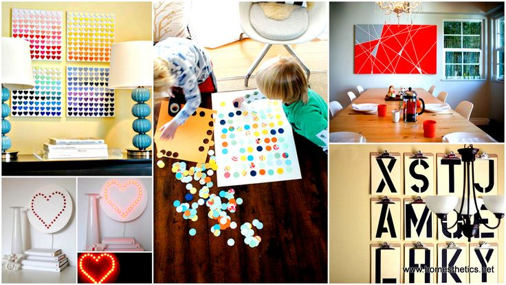 30 Outrageously Beautiful DIY Wall Art Projects That Will Enhance Your Decor homesthetics decor (25)