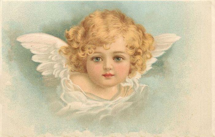 Винтажные открытки ангелы, стихи открытки