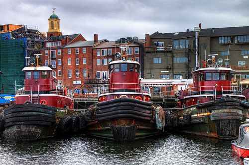 Tugboats On The Piscataqua River In Portsmouth New