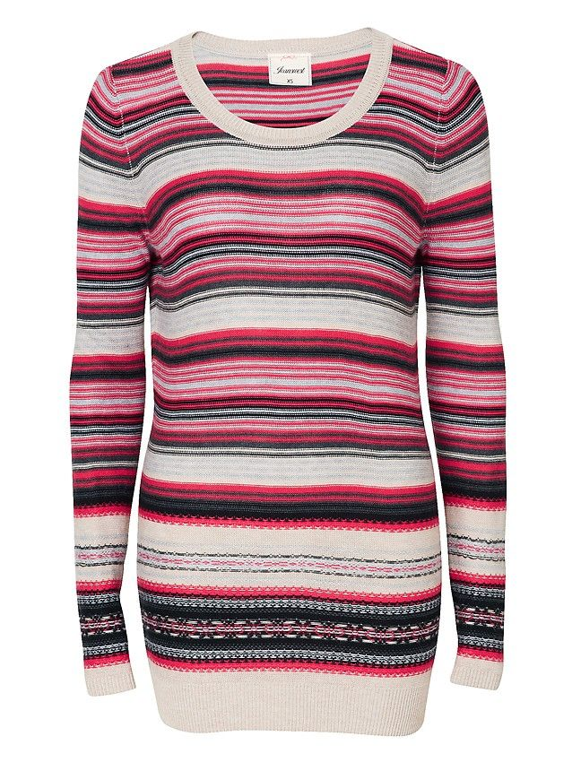 'Aria' Longline Stripe Knit -