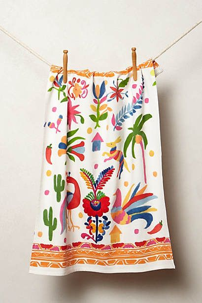 Barragan dishtowel for the home pinterest anthropologie for Anthropologie wall mural