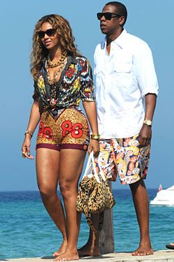 Bey and Jay - I need to look like this when I  go on vacation.