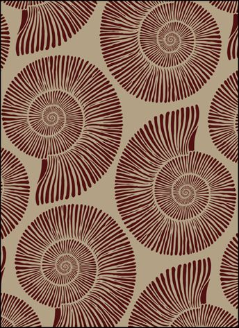 Click to see the actual VN291 - Ammonites stencil design.