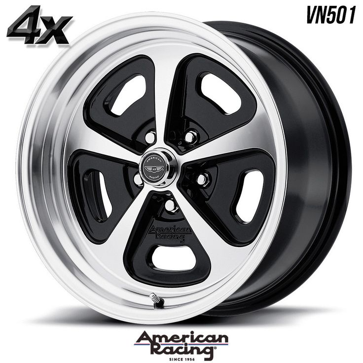 "4 American Racing VN501 17""x7"" 5x120.65 Gloss Black OFST:0mm 17 Inch Rims 17X7 Wheels"