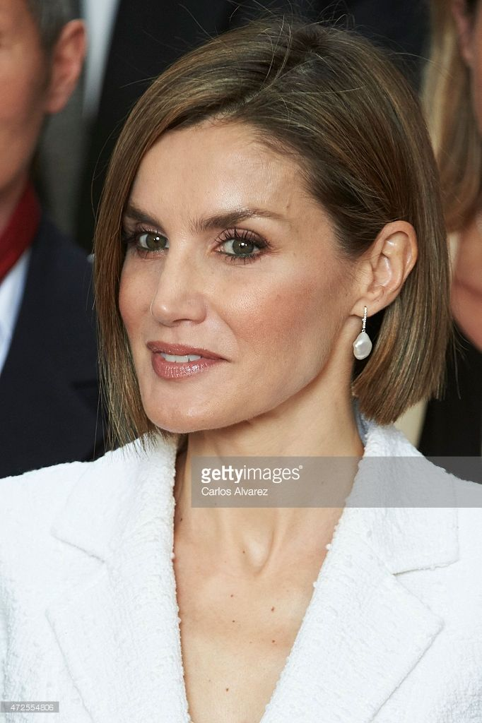 Queen Letizia of Spain attends the Red Cross World Day Commemoration at the Miguel Delibes auditorium on May 8, 2015 in Valladolid, Spain.  (Photo by Carlos Alvarez/Getty Images)