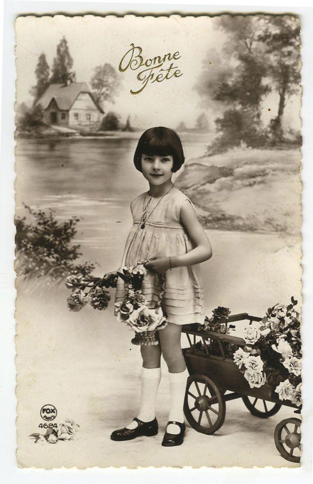 C 1930 французские дети ребенок милые маленькие мальчик девочка мода виртуал открытка | eBay