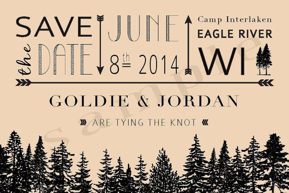 Rustic Forest Wedding Save the Date Postcards by CoreSolutions, $1.80 (DIY with kraft?)