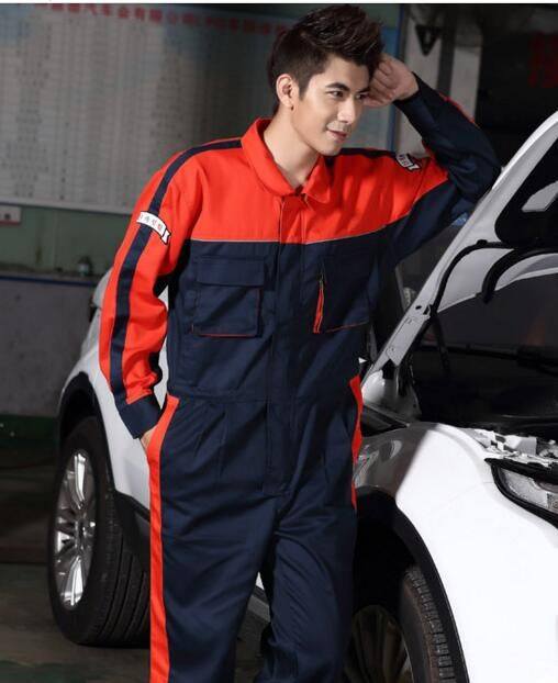 Automotive Beauty Maintenance Mechanic Overalls Suit Set Auto Repair Service Workwear for Autumn and Spring