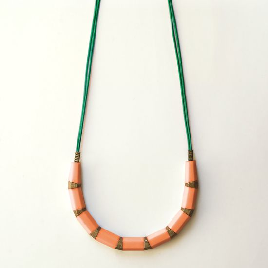pencil necklace long by karina jean