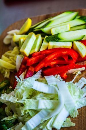Стир-фрай овощи в кисло-сладком соусе - рецепт на Российский Wok-Shop