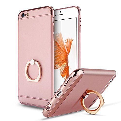 iphone6 iphone6s ケースLWGON スタンドリング付き 360専用 ケース 耐衝撃 3パーツ式 アイフォン6s iPhone6 ケース カメラ保護 アイフォンケース (ring ローズゴールド) [並行輸入品]