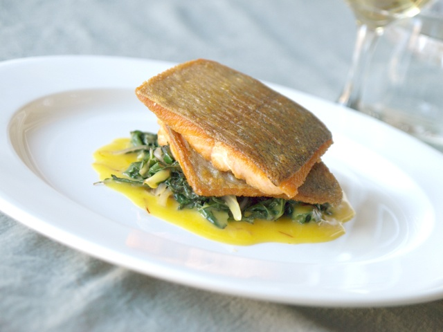 ... pan seared trout with pecan brown butter sauce pan seared trout