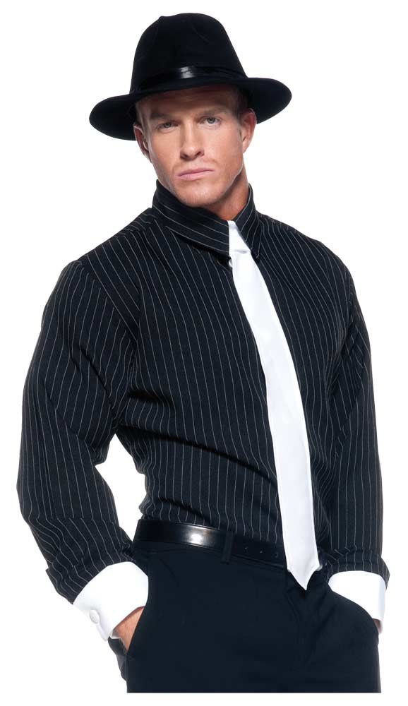 Mens Pinstripe Gangster Costume. Mafia Costumes. This item is not currently available for purchase. Description: Adult gangster Halloween costume includes ...