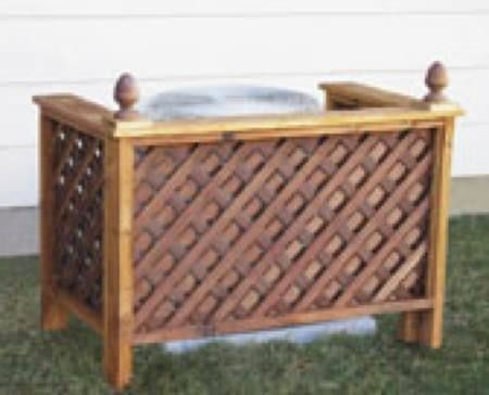 Hide your central air unit with this decorative wood screen. It will also help to muffle some of the noise. Also for use to hide garbage cans, compost bins, etc. Size of project can be changed to...
