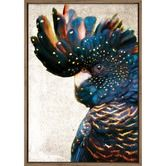 Found it at Temple & Webster - Black Cockatoo Side Grunge Printed Wall Art