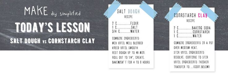 The differences between Salt Dough Clay & Cornstarch Clay. //Store in an airtight container in the refrigerator for up to 3 days. Keep at room temperature for at least 30 minutes before using again.//Cornstarch Clay will keep unrefrigerated for up to 2 weeks when stored with a small bit of wet sponge in a plastic bag or sealed container.