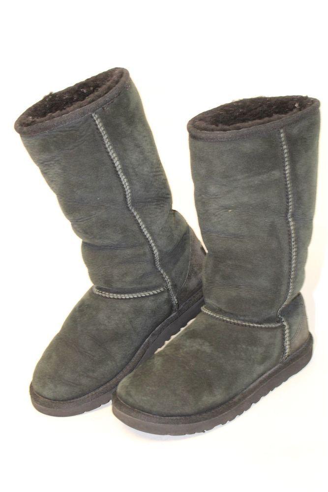 9cd5e4a2decb UGG Australia Uggs Big Kids 4 34 Classic Tall Black Sheepskin Boots 5229 mb   fashion  clothing  shoes  accessories  kidsclothingshoesaccs  girlsshoes   ad ...
