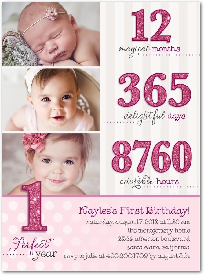 73 best First Birthday Party images on Pinterest Invitation cards