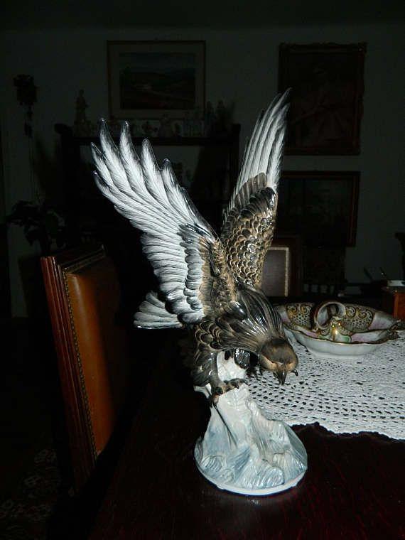 Meissen Eagle Monumental Meissen Eagle Huge Meissen Eagle