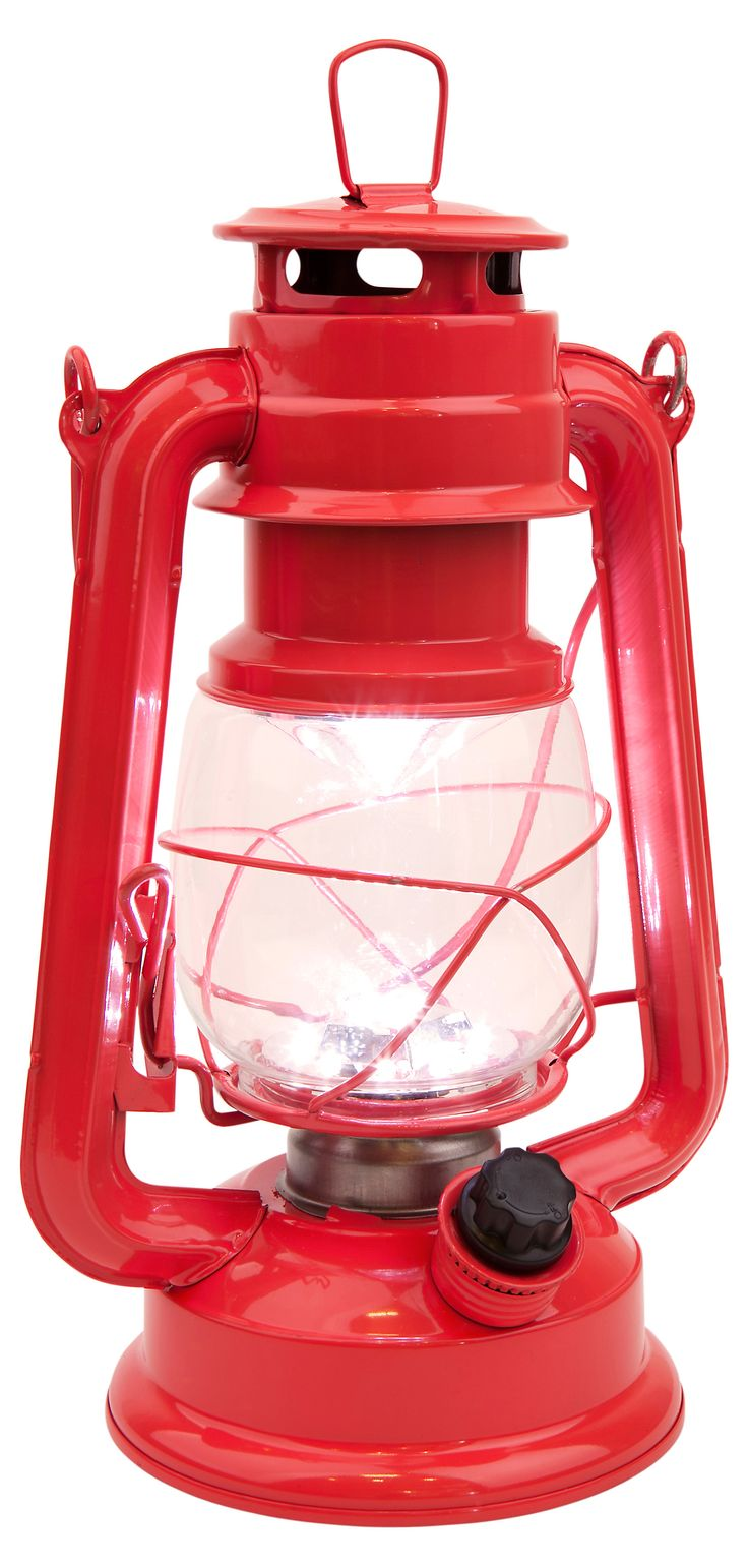 Classic LED Lantern, Hot Coral | One Kings Lane