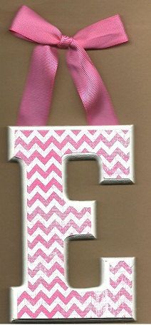 Pink and White Chevron Letters - OVER 85 DESIGNS to chose from. $7.00, via Etsy.