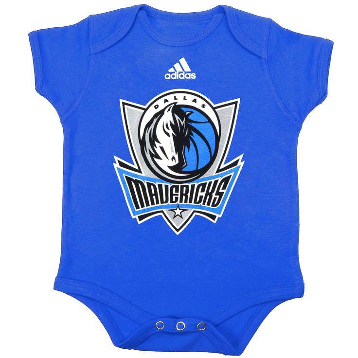Dallas Mavericks adidas Newborn Primary Logo Bodysuit - Royal - $14.39