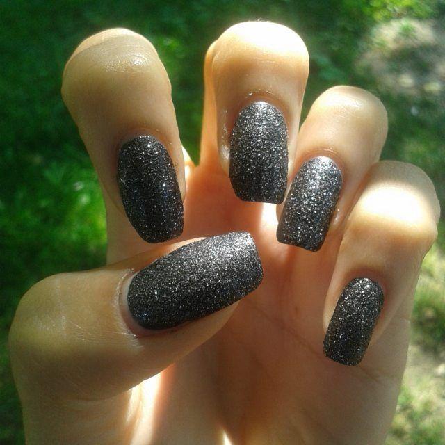 3D texture mani  Miss Sporty Crazy on you textured nail polish Umbrella black nail polish Miss Sporty 5in1 base coat