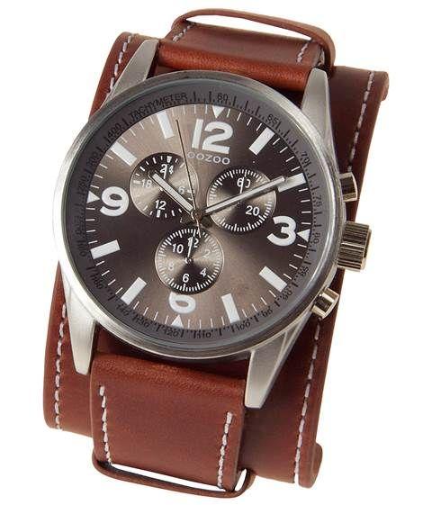 OOZOO: Herren Armbanduhr 'C5628', braun von Oozoo