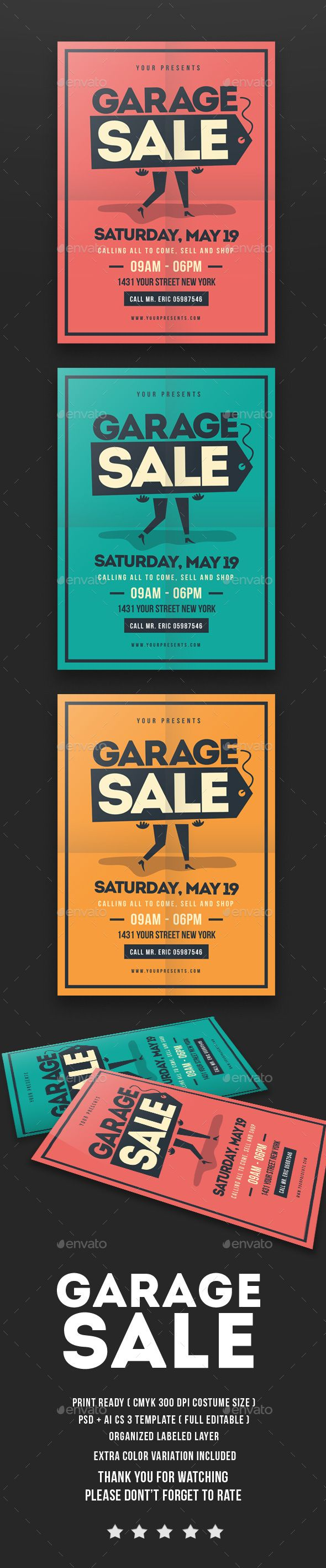 Garage Sale Flyer — Photoshop PSD #community #leaflet • Available here →…