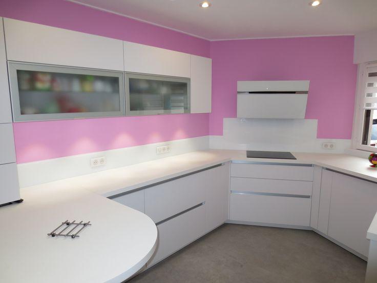 White Glass Splashbacks Kitchen.