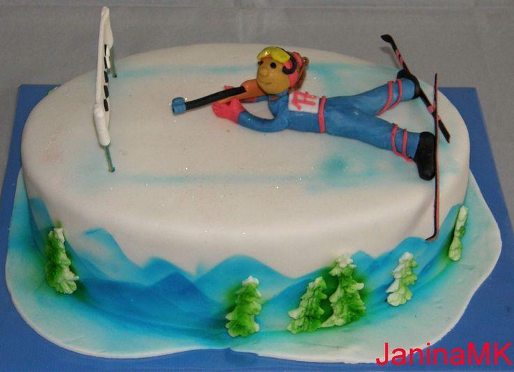 Výsledek obrázku pro dort biatlon