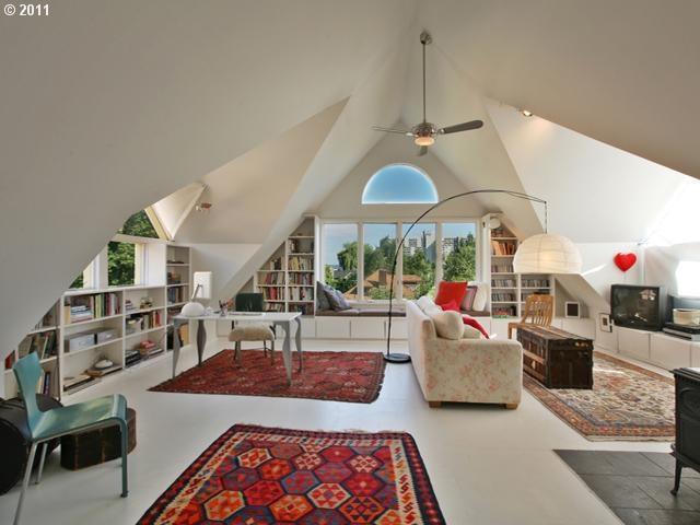spacious attic living