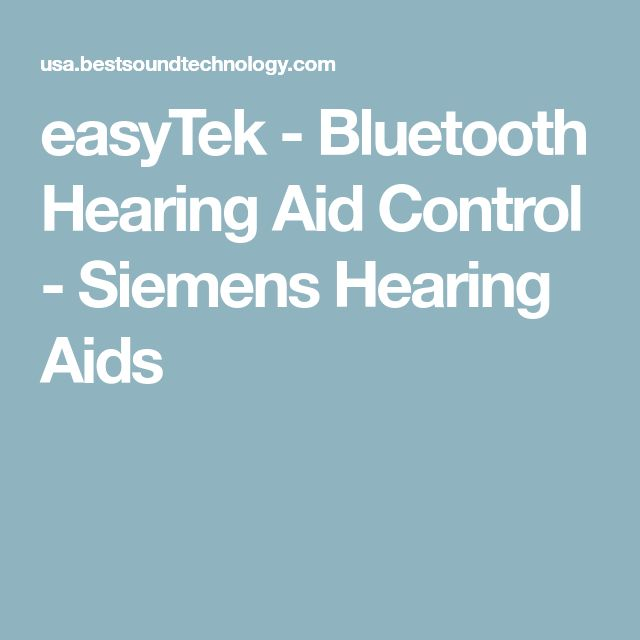 easyTek - Bluetooth Hearing Aid Control - Siemens Hearing Aids