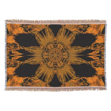 Golden Velvet Flower TB SDL Throw - floral style flower flowers stylish diy personalize