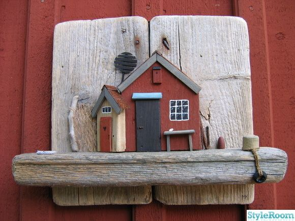 House on driftwood
