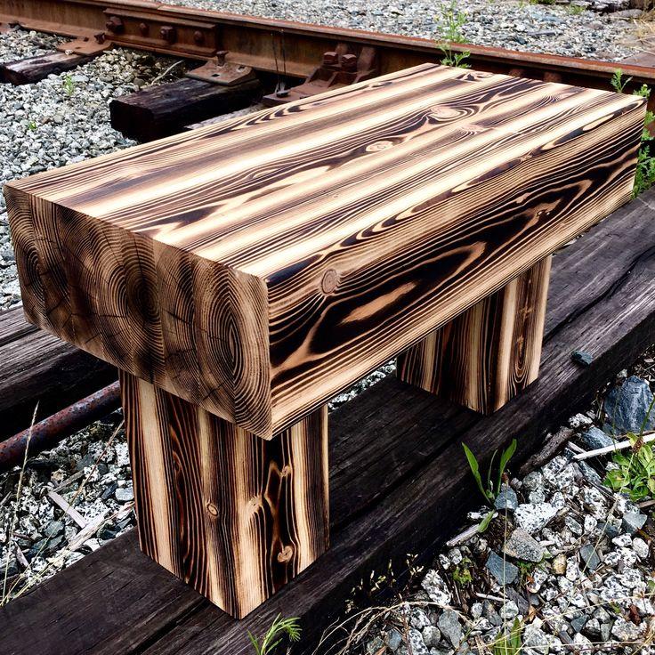 Douglas Fir Bench Natural Charcoal finish