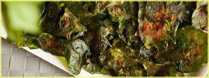 Baked Spinach Chips | Brooklyn Farm Girl