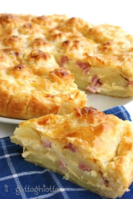 il gattoghiotto: torta salata scamorza e patate