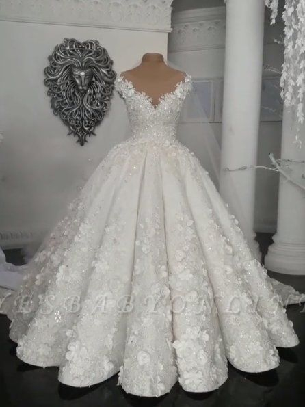 glamorous ball gown wedding dresses off the shoulder floral