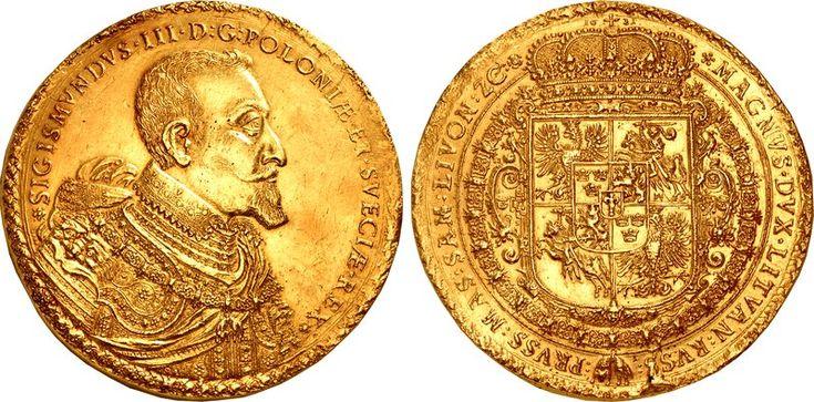 Na aukcję została wystawiona polska moneta: 100 dukatów z czasów Zygmunta III Wazy. Ma szansę trafić do grona najdroższych na świecie. http://exumag.com/numizmatyka/