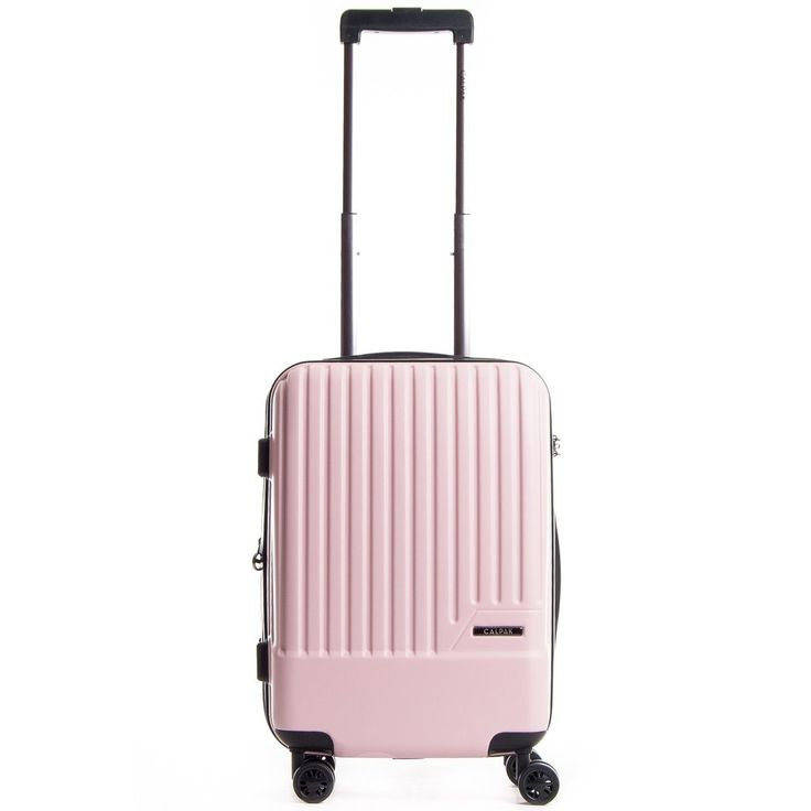 The CALPAK Davis carry-on is designed with 8 multi-directional spinner wheels that offer effortless mobility, a mounted TSA-approved combination lock, a retractable handle, and is expandable for extra