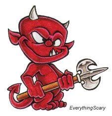 Goofy Little Devil Tattoo Design