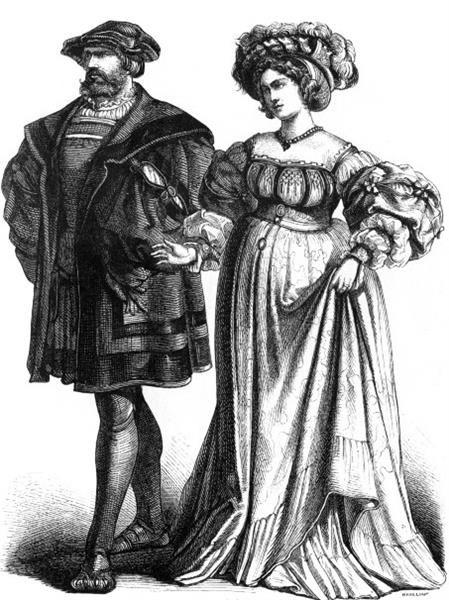 Немецкий мужской костюм 16 века