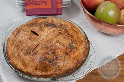 Cheddar Crusted Apple Pie - intriguing match of sweet and savory