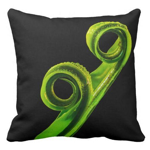 Elegant Young Fern Leaf Macro - Throw Pillow